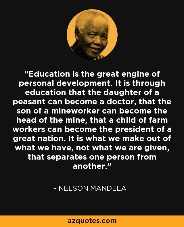 nelson-mandela-Education quote