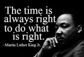MLK-Time is Right