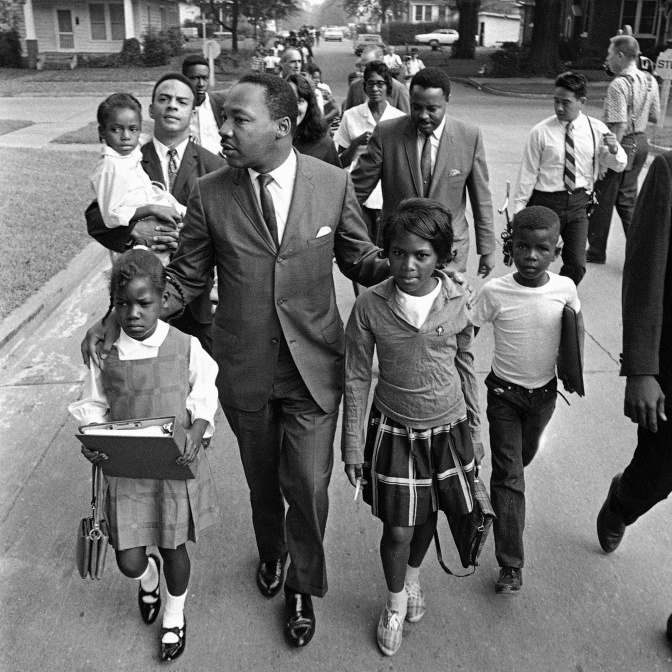 MLK -with School Kids